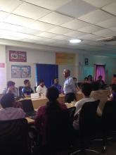 Training at an apparels factory in Bangalore